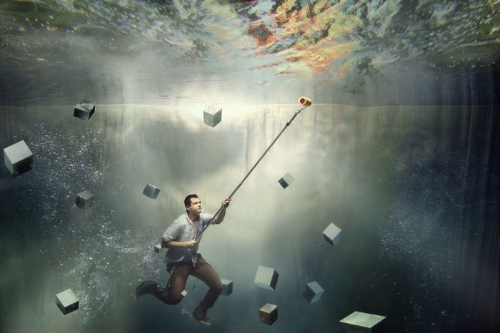 Stunning Underwater Photo Session – Corporate Photos Shouldn't Be Boring!