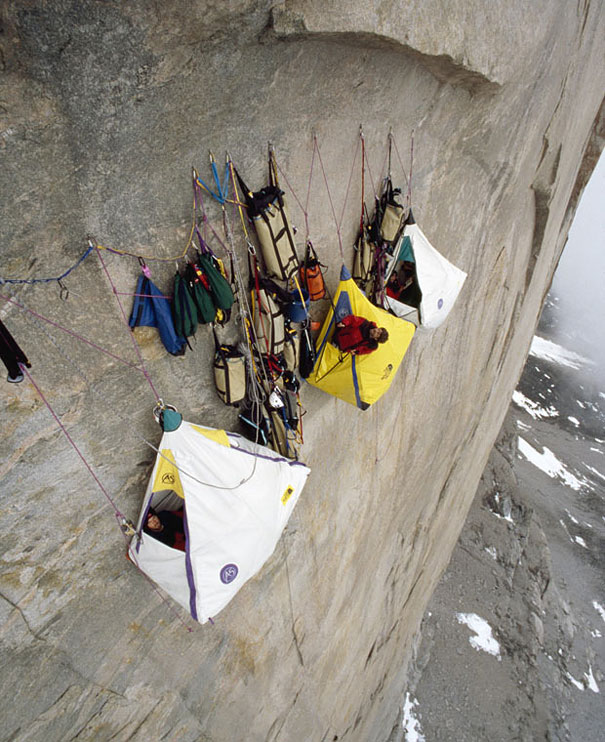 Extreme Camping 4,000 feet Above the Ground
