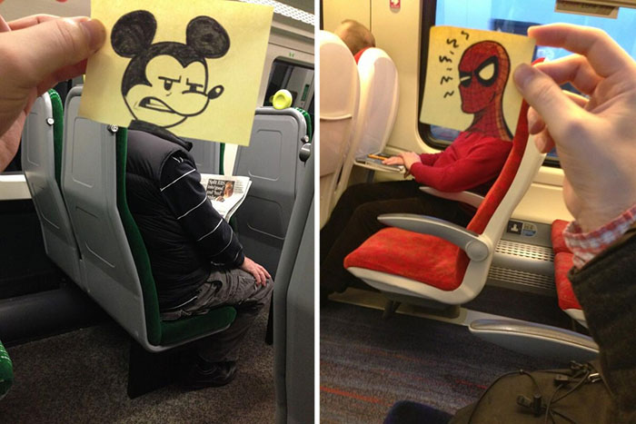 Illustrator Finds A Creative Way To Spend Time On A Train
