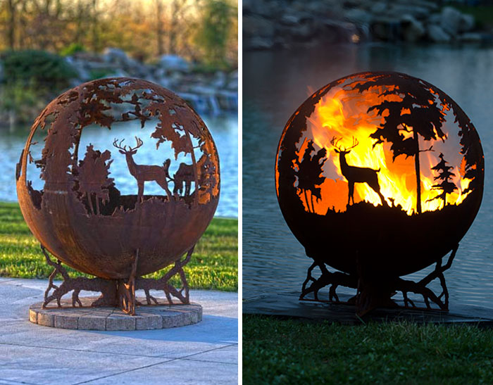 35 Beautiful Metal Firepits That Are Works Of Art