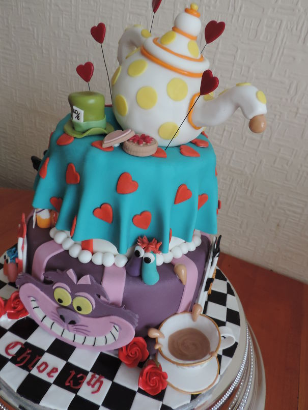 Alice In Wonderland Cake By Occasion Cakes Rochdale