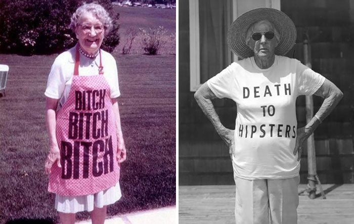 Elderly People Who Probably Don't Realize What They're Wearing