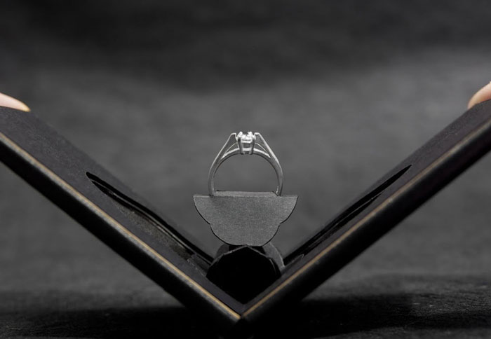 Engagement Ring Box Opens Up Like A Flower In Bloom