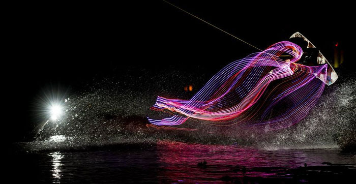 Luminescencia Project: We Installed LED Lights On Wakeboards