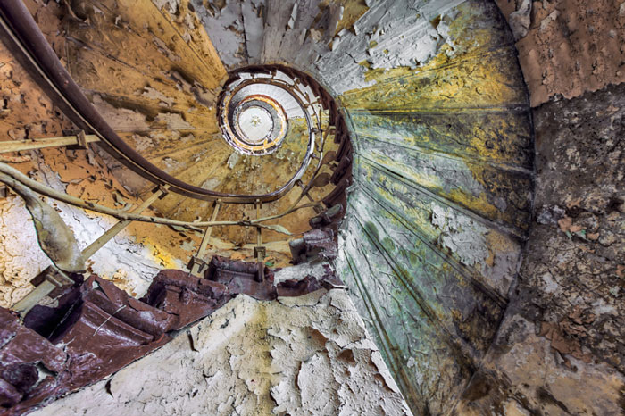 My Photos Of Stairs In Abandoned Buildings That I've Collected Over The Years