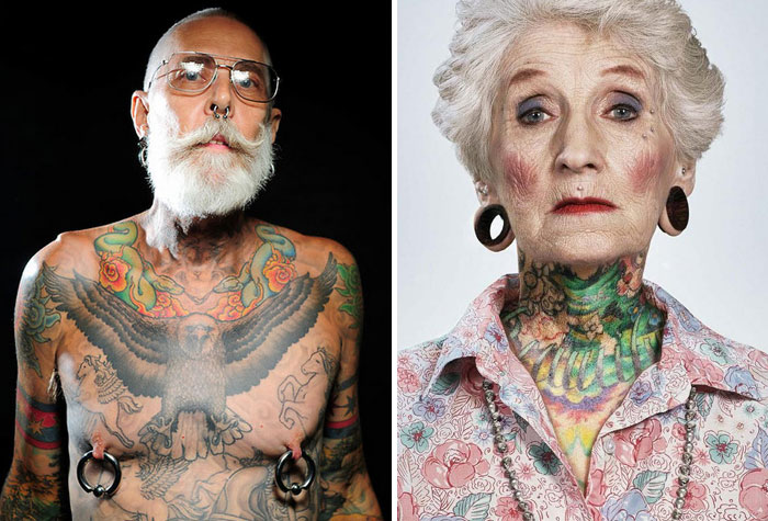 41 Tattooed Seniors Answer The Eternal Question: How Will Your Ink Look When You're 60