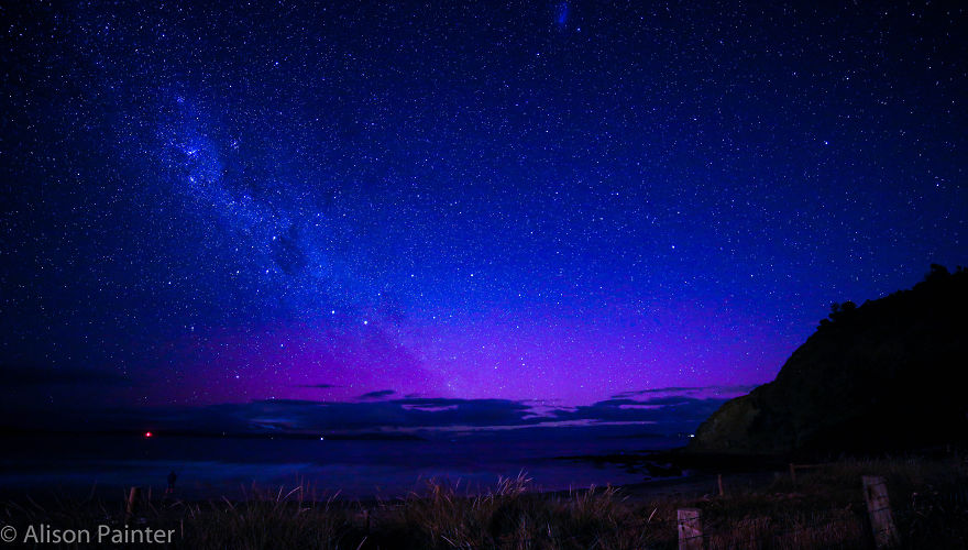 A Fisherman Contemplates The Milky Way