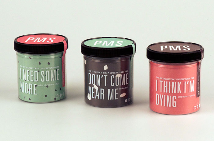 PMS Ice Cream Has Flavors That Perfectly Describe How Women Feel