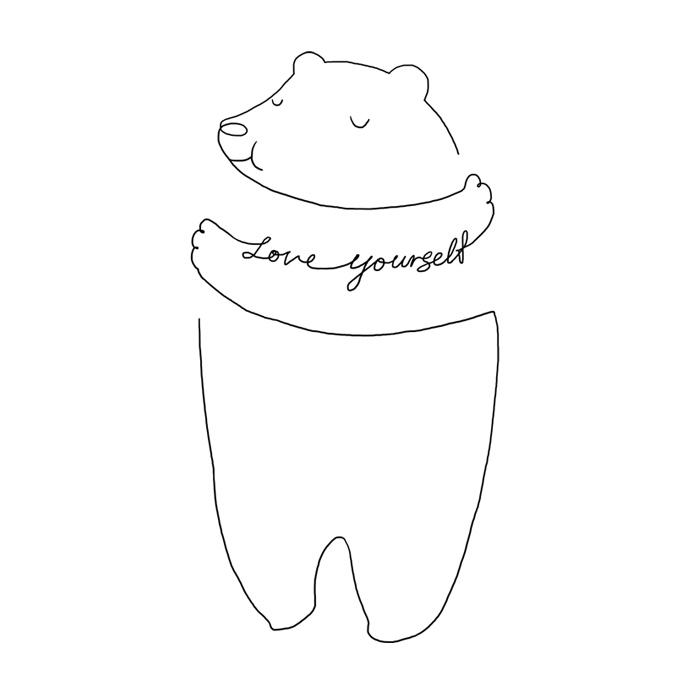 Simple Line Art To Remind You To Love Yourself More Every Day
