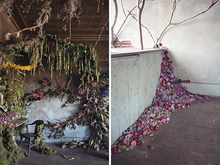 Abandoned House In Detroit Brought Back To Life With 4,000 Flowers