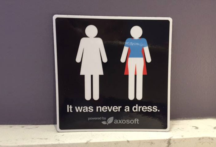 It Was Never A Dress: This Campaign Will Change The Way You See Women's Bathroom Signs Forever