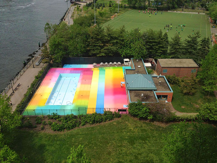 I Used 120 Gallons Of Paint To Revive An Abandoned Pool On Roosevelt Island