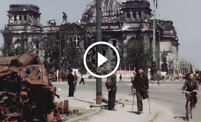 Amazing HD Color Footage Of Berlin From 1945 Right After End Of WW2