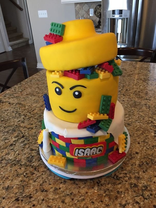 Cake That A Friend Made For My Son's Lego Themed Party
