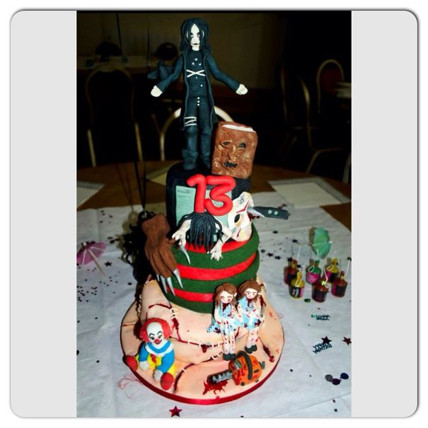 Horror Cake For My Daughters 13th Birthday.