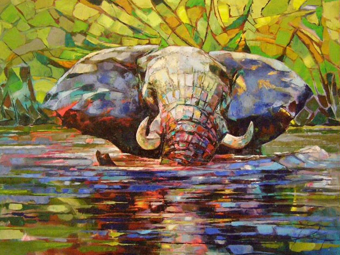 Africa-Inspired Palette Knife Paintings By Radka Kirby