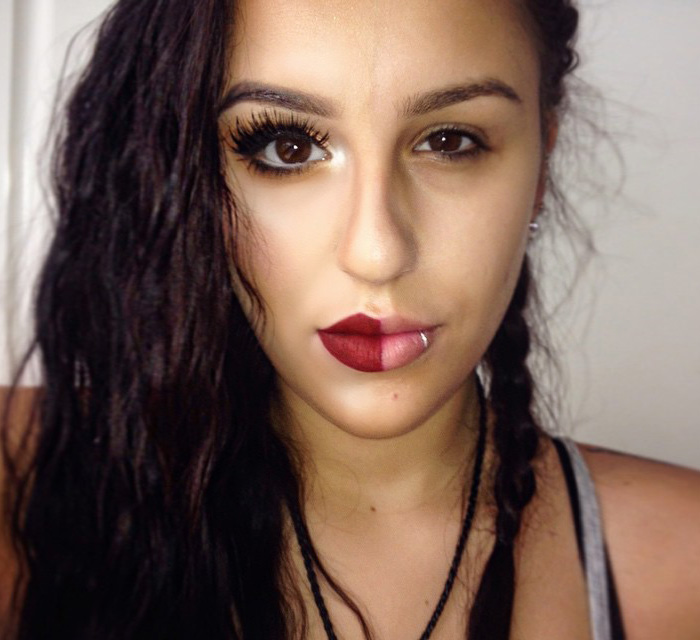 Women Post Selfies With Half-Made-Up Faces To Fight Makeup Shaming