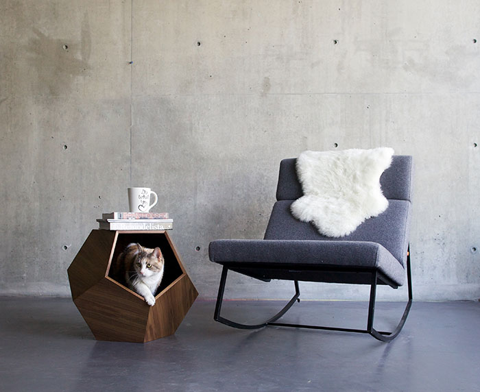 Our Geometric Pet Cave Can Be A Classic Side Table Too