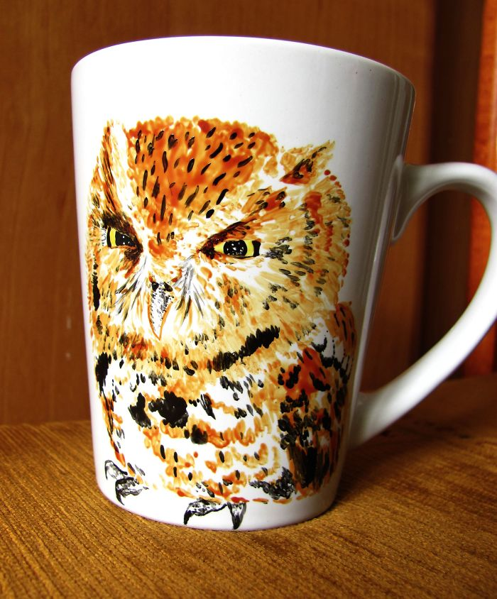I Paint Animals On Boring Cups To Make Them Special