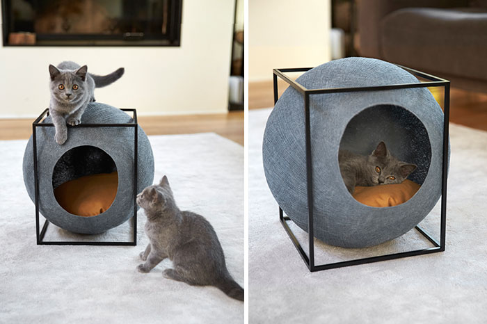 Cat Cocoons Designed For Modern Interiors And Made By People With Disabilities