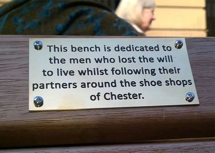 City Council Searches For Pranksters Who Added Funny Signs To Park Benches