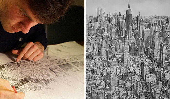 I Draw Famous Cities From My Memory