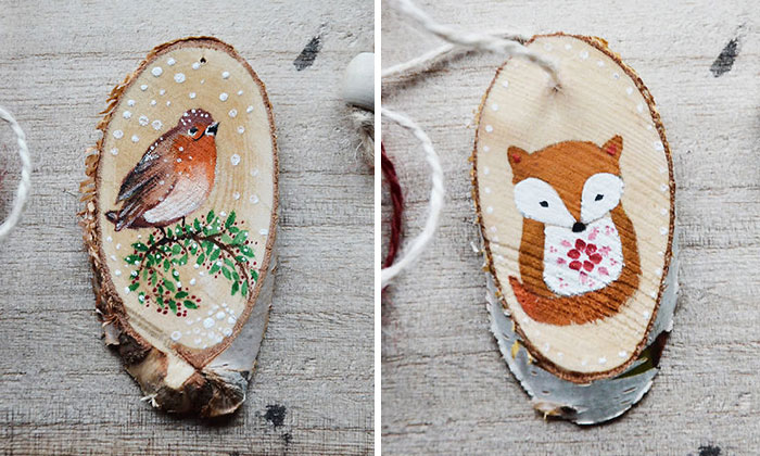 It's The Little Things That Make Christmas Special, So I Paint Them On Small Pieces Of Wood