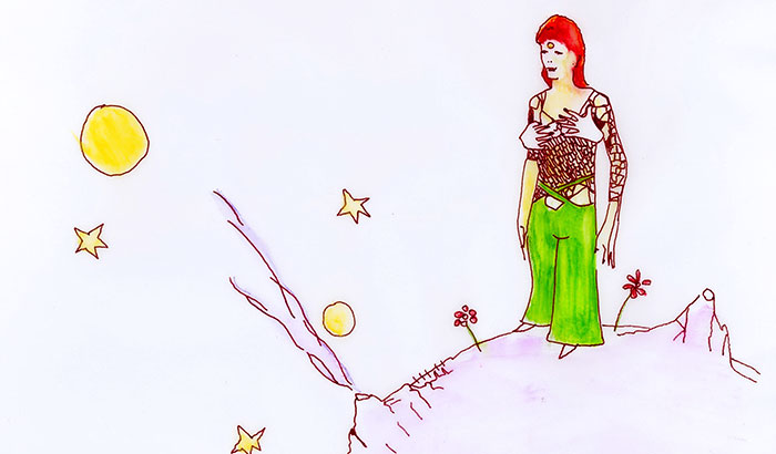 I Drew Ziggy Stardust In The Settings Of 'The Little Prince'