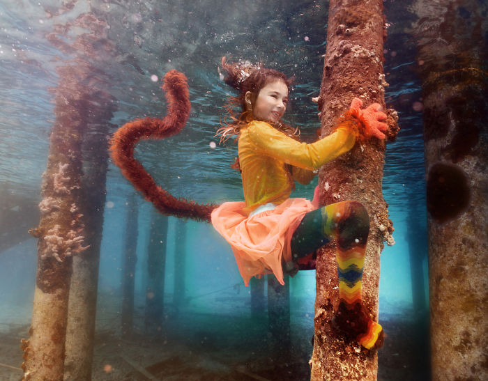 I Travelled To Bonaire Island And Photographed Local Children Underwater