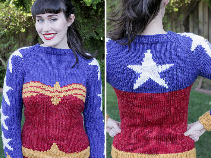 Knitted Wonder Woman Sweater That'll Make You Look Super