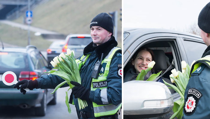 What Lithuanian Police Officers Do On International Women's Day