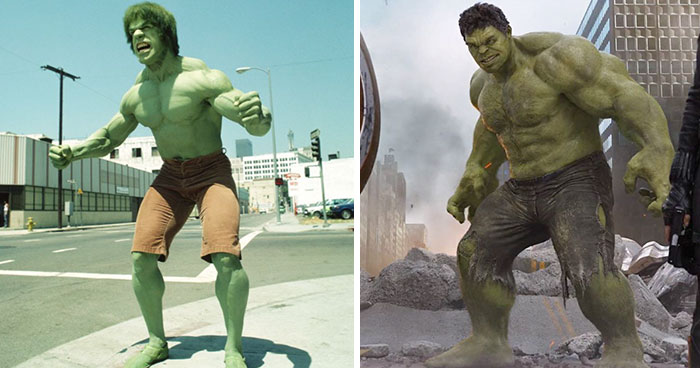 23 Superheroes Then And Now
