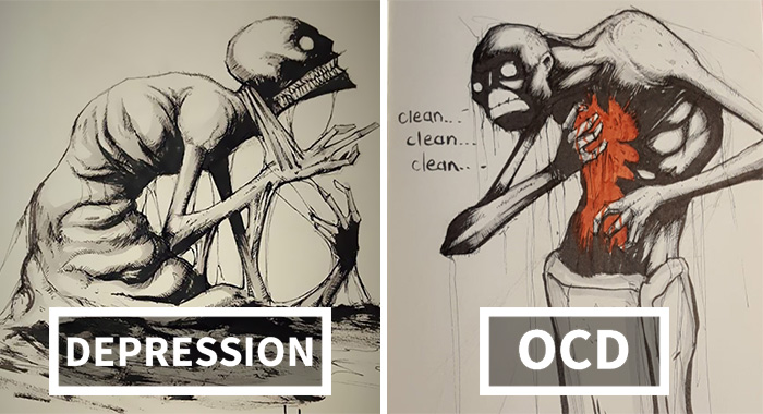 I Illustrated Mental Illness And Disorders For Inktober