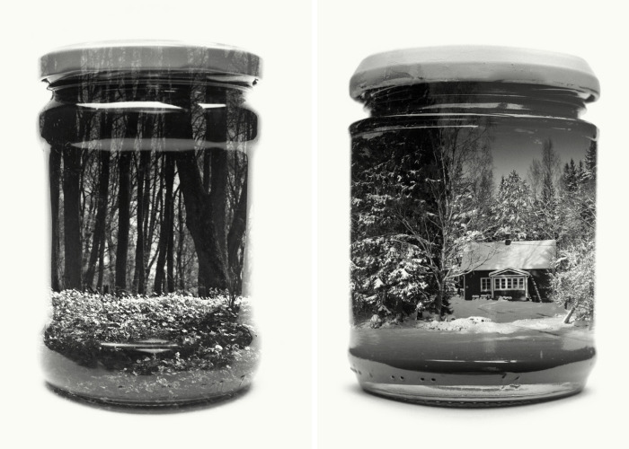 I Collect Landscapes In Jars Using Analog Double Exposures
