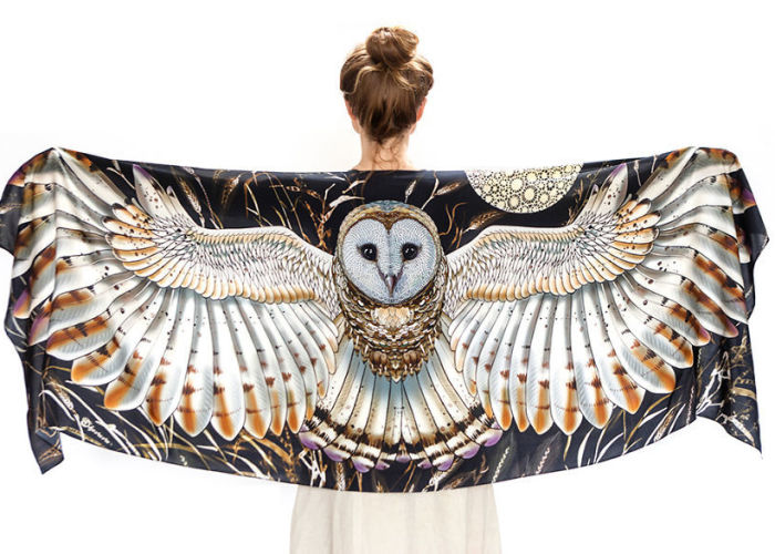 I Hand-Draw Owl Scarves That Will Give You Wings