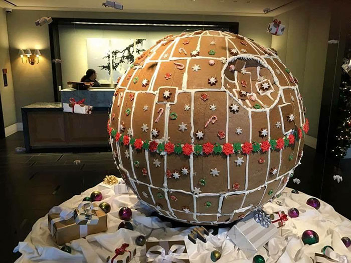 """""""Fully Operational"""" Gingerbread Death Star Is Taking Gingerbread House Game To The Next Level"""