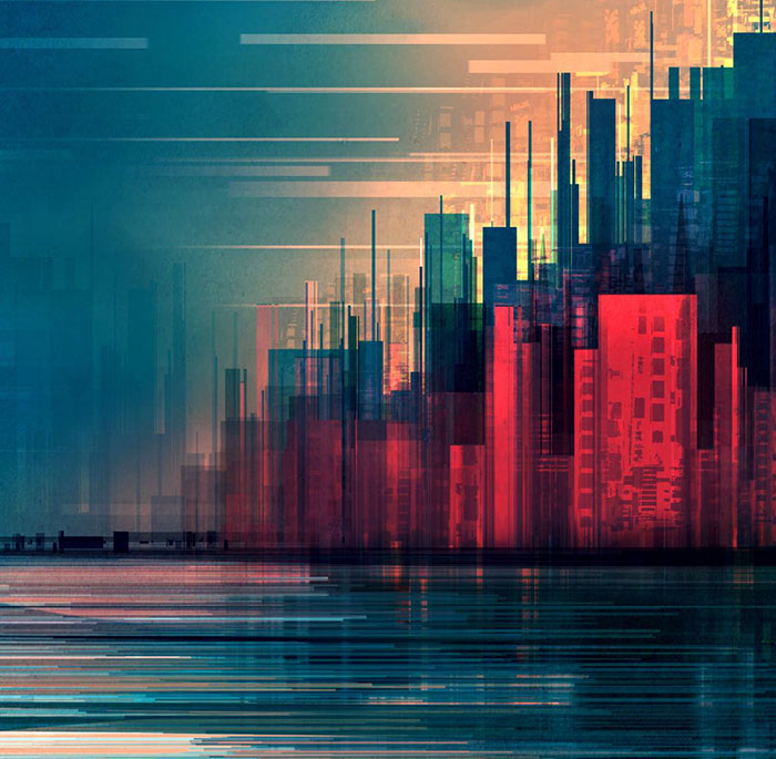 Geometric Cityscapes And Landscapes By Illustrator Scott Uminga