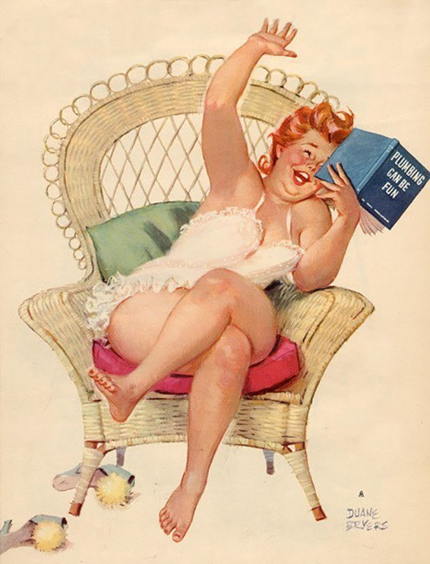 Plus-size Pinup Girl