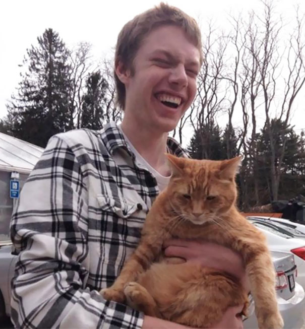 My Blind Friend's First Time Holding A Cat