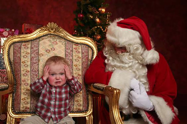 My Nephew Meeting Santa For The First Time