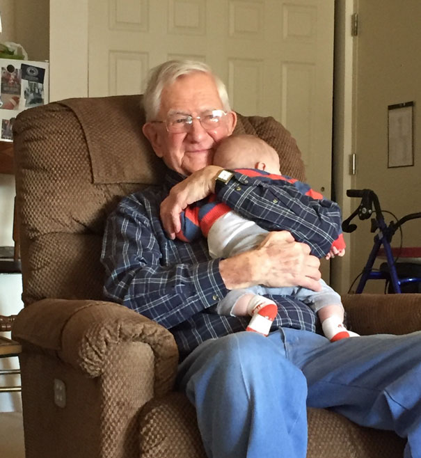 This Picture Of My Grandfather Meeting His Great Grandson For The First Time