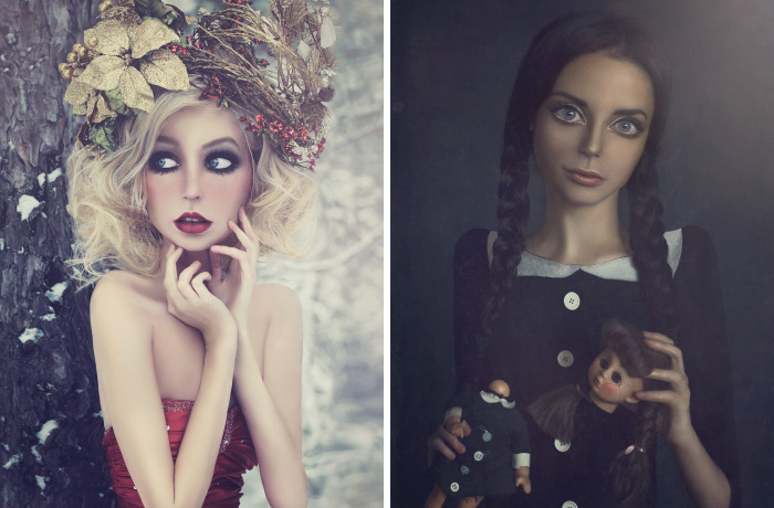 I Create Fantasy-Like Images By Giving Big Eyes To My Models
