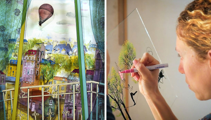 I Use Innovative Technique Of Painting On Glass… In 3D