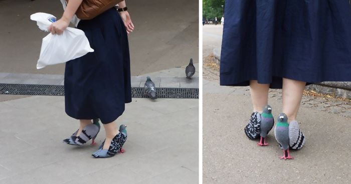People Are Freaking Out About This Japanese Woman Walking In Pigeon Shoes