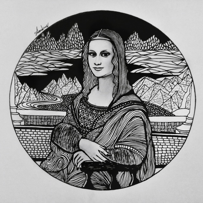 I Combined Doodling And Intricate Zentangle Patterns To Recreate Famous Artworks