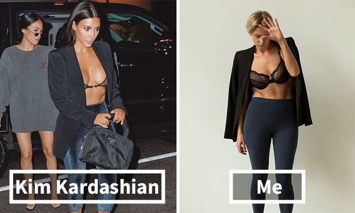 I Recreated Kim Kardashian's Outfits In Two Ways, Proving There Are Only A Few Steps From Horrible To Perfect