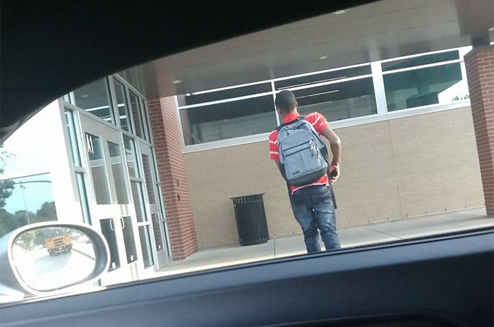 Everyone Ignored This Boy Banging On Doors For Help, Until This Guy Opened The Doors