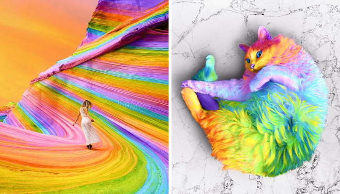 New York Artist Covers Pictures In Rainbows Because Everything Is Better With Lots Of Color
