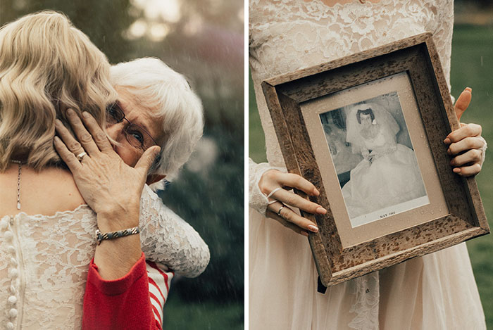 Bride Surprises Grandmother By Wearing Her Wedding Dress From 1962 And Her Reaction Is Too Cute
