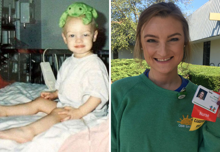 Girl Who Beat Cancer Twice Returns To The Same Hospital 20 Years Later, But This Time As A Nurse